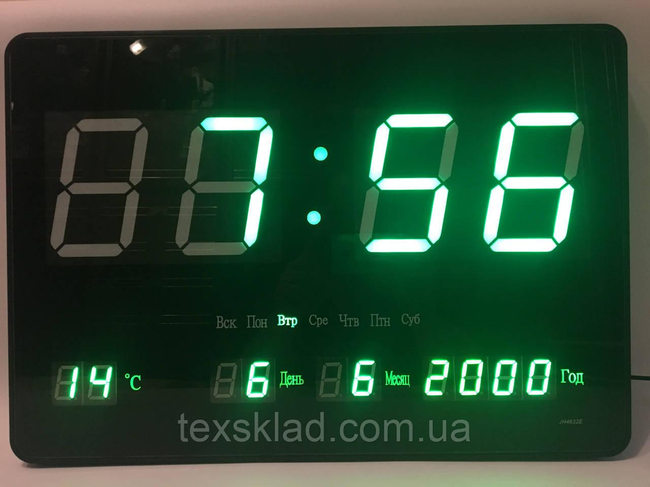 ... Настенные электронные часы JH-4632 green (46x32см Руское меню), ... d7429496fa8