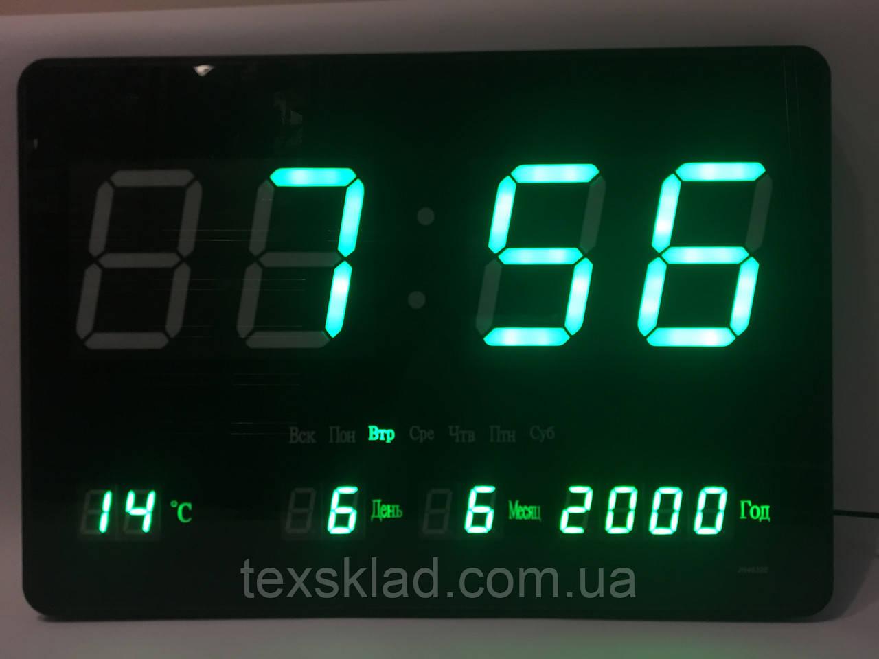 Настенные электронные часы JH-4632 green (46x32см Руское меню) - «ТЕХСКЛАД acfad695cbc