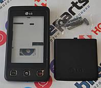 Корпус для телефона LG KP500 в сборе (Качество ААА) (Черный) Распродажа!
