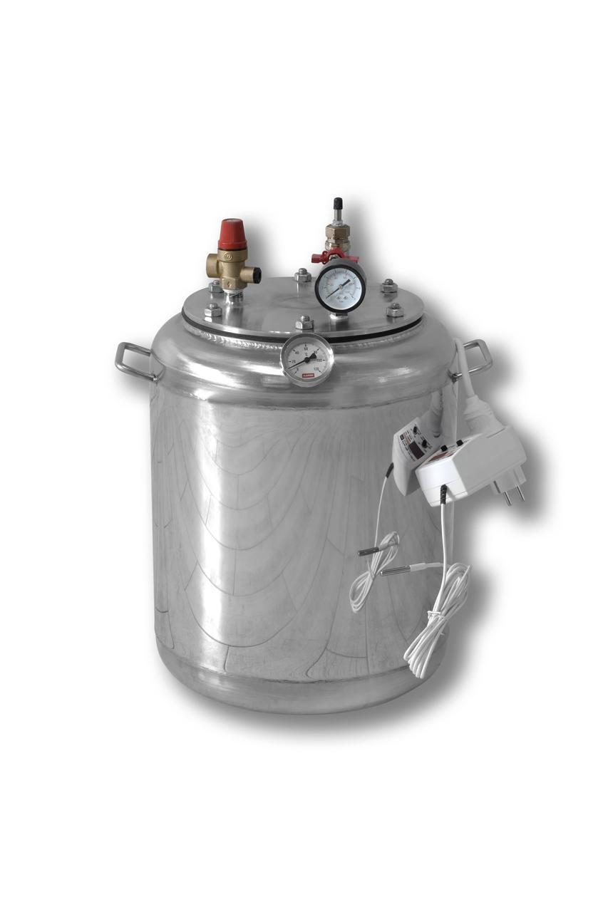 Автоклав электрический из нержавейки А-16 electro (1л-7шт, 0,5л-16шт)