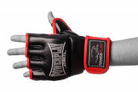 Рукавички MMA PowerPlay 3058 Economy series Black/Red