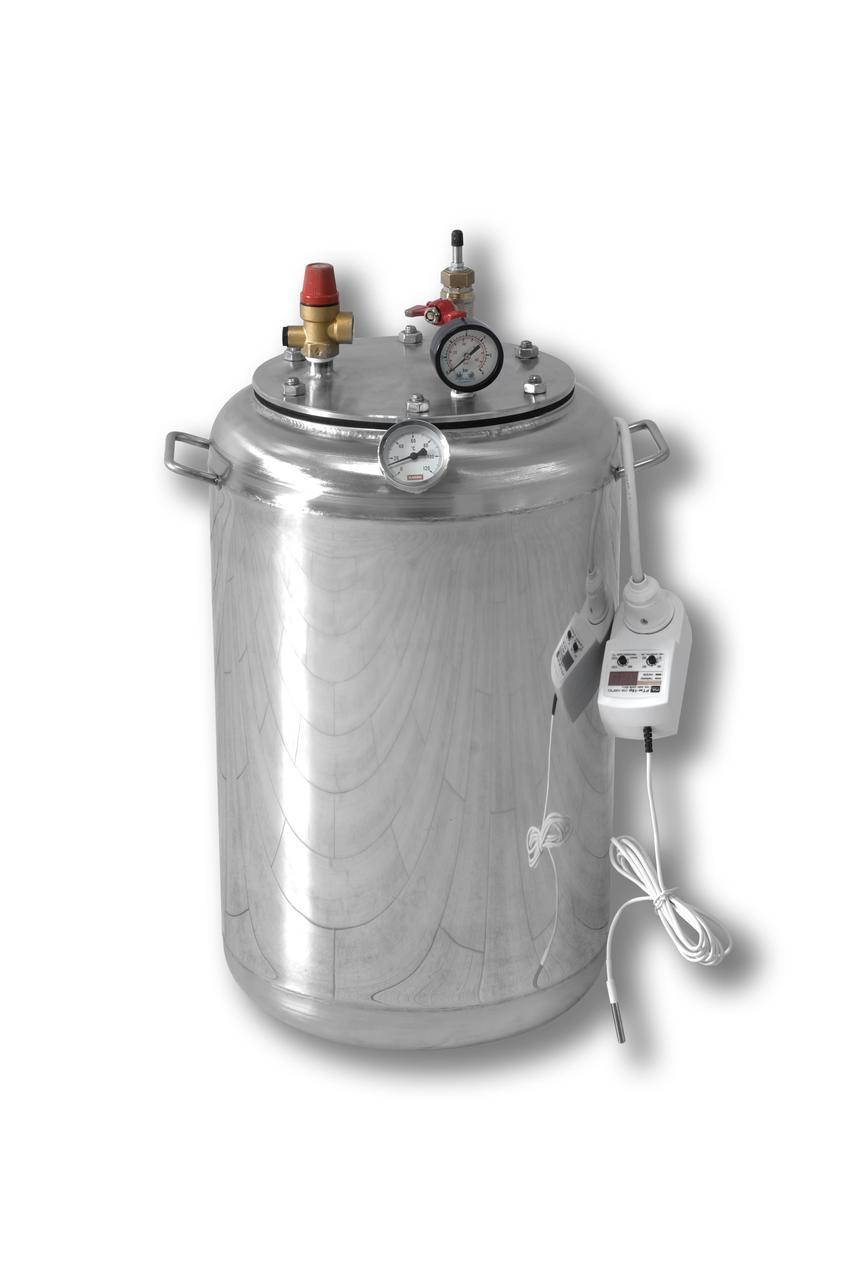 Автоклав электрический из нержавейки А-24 electro (1л-14шт, 0,5л-24шт)