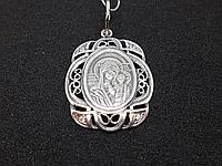 Серебряная ладанка-образ Богородица Казанская. Артикул 3425, фото 1