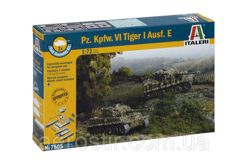 Pz. Kpfw. VI Tiger I Ausf. E. 1/72 ITALERI 7505