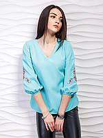 Блуза   женская модная с вышивкой (44-48), доставка по Украине