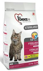 Сухой корм для кастрированных котов и стерилизованных кошек 1st Choice Sterilized Chicken, 5 кг