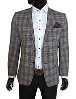 Мужской пиджак приталенный  в клетку № 94/2 - Прадо, фото 1