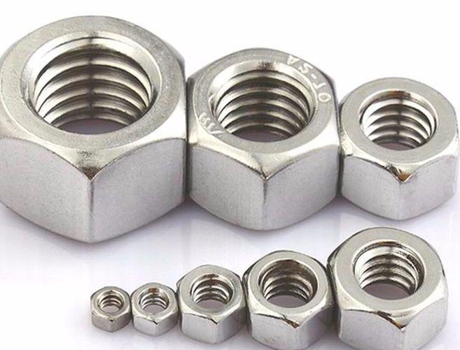 Гайка нержавеющая М1,7 DIN 934 (ГОСТ 5915-70, ГОСТ 5927-70) сталь А2 и А4