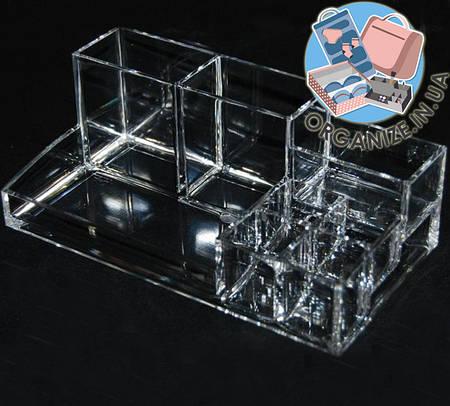 Прямоугольный акриловый органайзер с ячейками для косметики  Cosmetic organizer