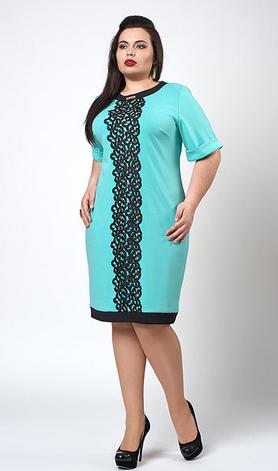 "Платье ""Божена"" размер 50,52,54 бирюза, фото 2"