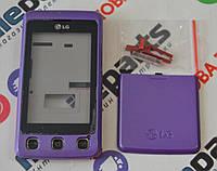 Корпус для телефона LG KP500 в сборе (Качество ААА) (Фиолетовый) Распродажа!