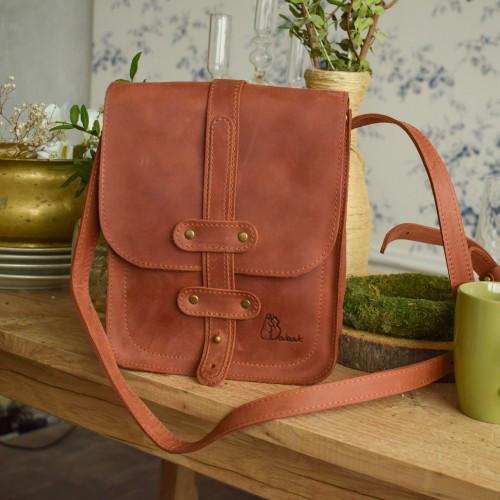 15465fa92731 Мужская кожаная сумка   Винтажный Коньяк - Sollomia - интернет-магазин  кожаных изделий ручной работы