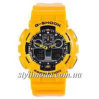 Часы наручные Casio G-Shock GA-100 Yellow Glossy Yellow (реплика)