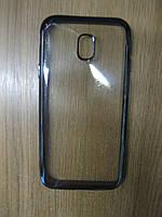 Силіконова накладка Samsung J330(J3-2017)(Remax Air Series) Black