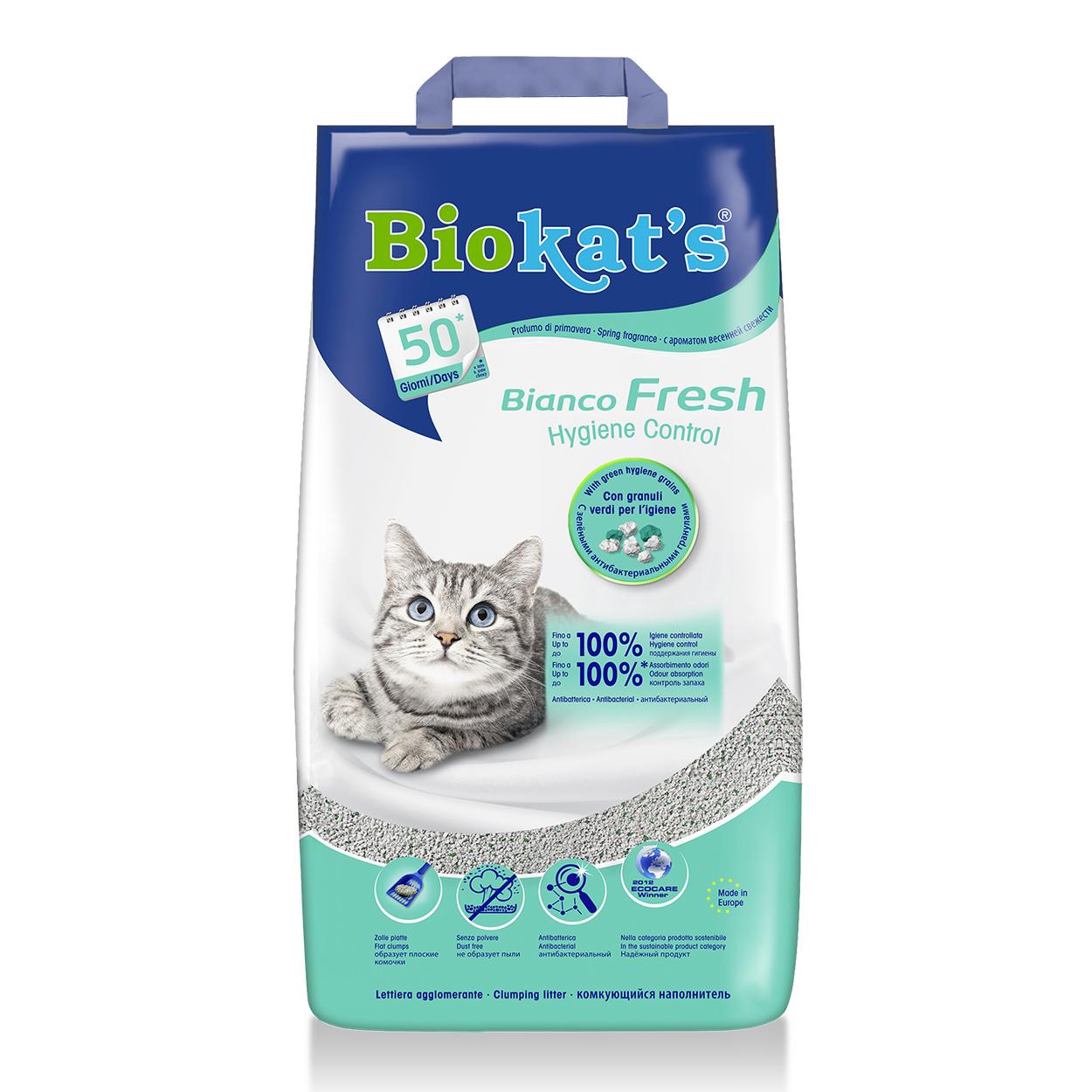 Песок Biokat`s (Биокатс) BIANCO FRESH (бентонитовый) 10кг - наполнитель туалета для кошек