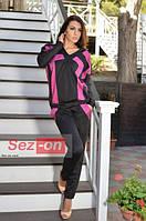 Комбинезон женский трикотажный с карманами Малиновый