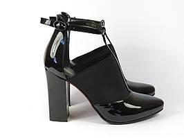 Туфли на каблуке лаковые Fabio Monelli