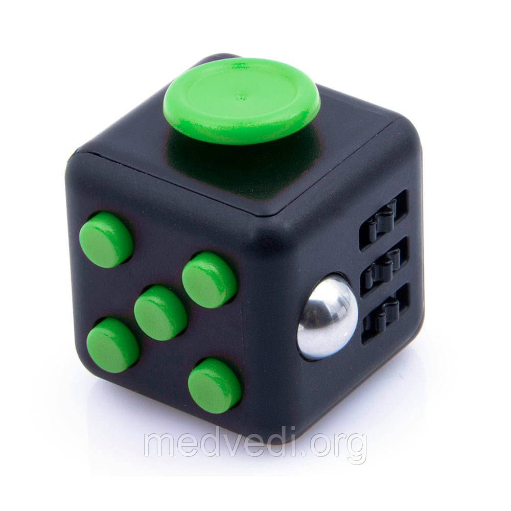 Игрушка Fidget Cube, антистрессовый кубик Фиджет черно-зеленый
