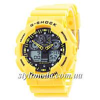 Часы наручные Casio G-Shock GA-100 Yellow-Black (реплика)