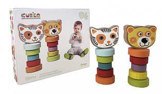 Набор деревянных игрушек Гнущиеся животные Cubika