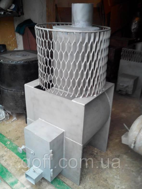 Банная печь, Печь на дровах с пламегасителем