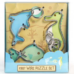 Детские головоломки First Wire Puzzle Set - Aquatic Морские животные 473352