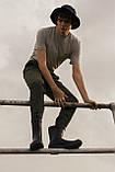 Сапоги резиновые мужские литые / Crocs Men's AllCast Rain Boot (204862), Черные, фото 9