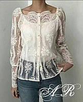 Блуза с вышевкой (3 цвета ), фото 1