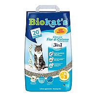 Песок Biokat`s (Биокатс) CLASSIC 3in1 FIOR di COTTON 10кг (бентонитовый)- наполнитель туалета для кошек, фото 1
