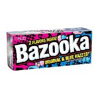 Bazooka Original & Blue Razz Bubble Gum , фото 1