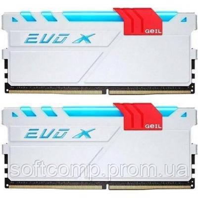 Модуль памяти для компьютера DDR4 16GB (2x8GB) 2400 MHz EVO X White GEIL (GEXG416GB2400C16DC)
