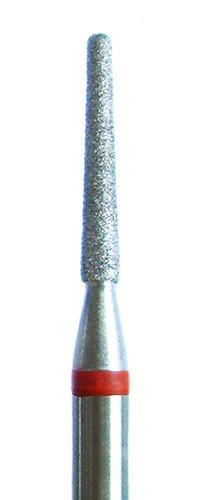 Алмазная фреза усеченный конус закругленный 2,3мм, красная насечка