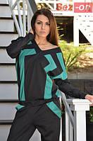 Комбинезон женский трикотажный с карманами Бирюзовый