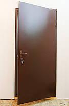 Полуторные входные двери Техно в тамбур с установкой в Киеве, фото 2