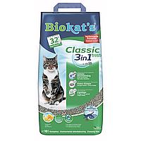 Песок Biokat`s CLASSIC FRESH 3in1 10л - комкующийся наполнитель с ароматом весенних трав для кошачьего туалета, фото 1