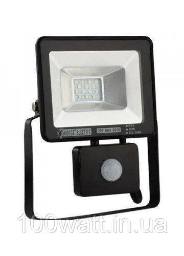 Прожектор светодиодный LED 10W 6400K SMD с датчиком движения