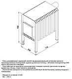 Надійна калориферна піч з варильною плитою типу булерян, фото 2