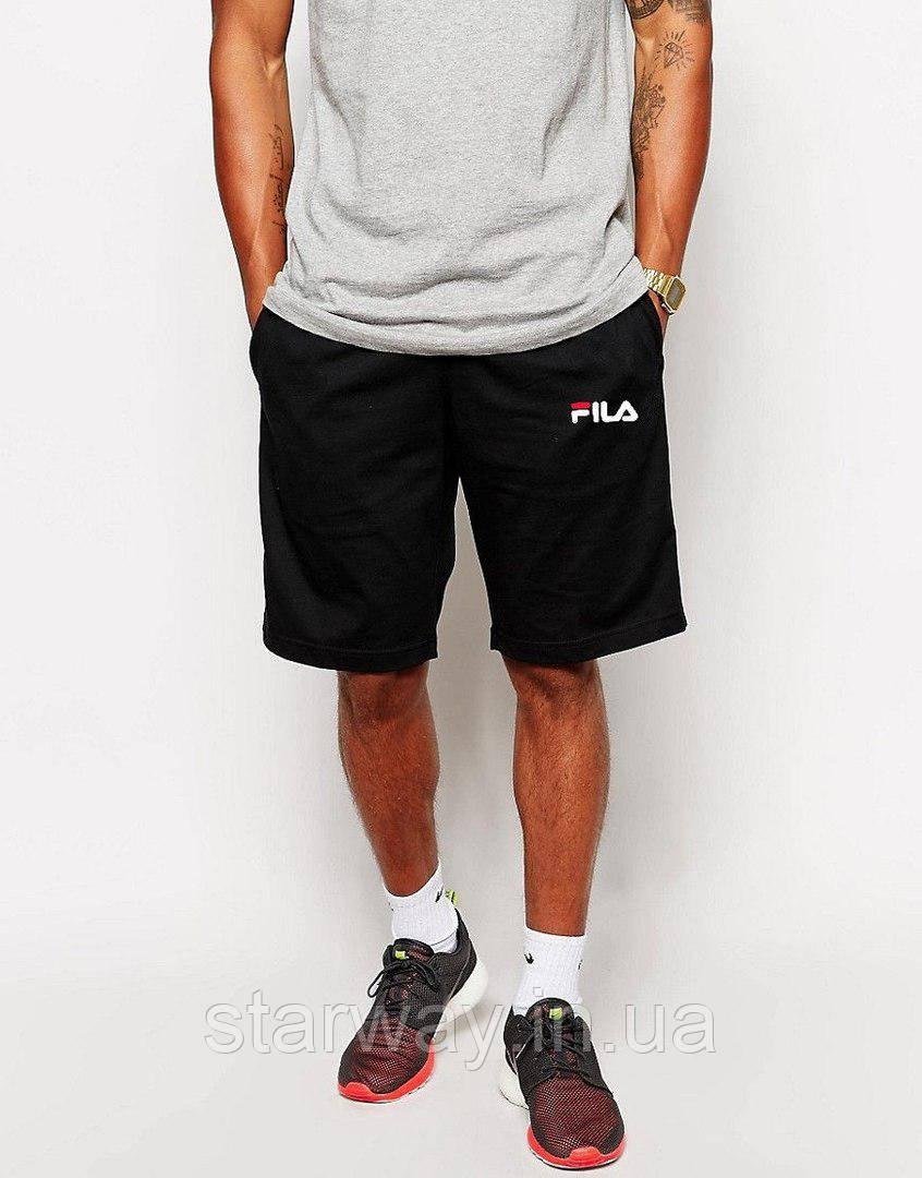Шорты стильные | принт Fila мелкое лого