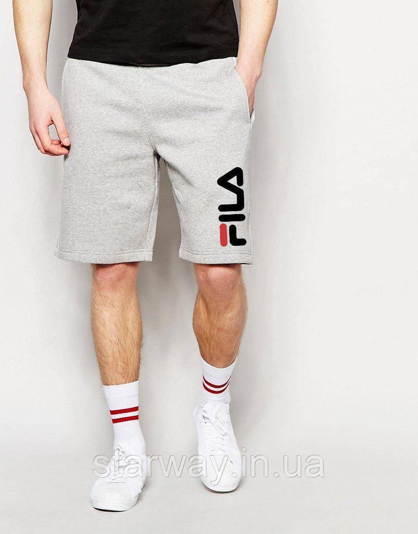 Шорты серые | принт Fila logo
