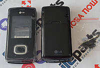 Корпус для телефона LG KG800 Chocolate в сборе (Качество ААА) (Черный) Распродажа!