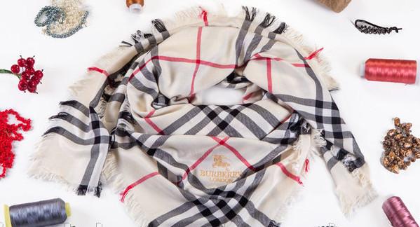 Кашемировый брендовый платок Burberry (реплика)  3c358e11a1577