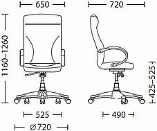 Крісло офісне Riga plastic механізм Tilt хрестовина PL35, екошкіра Eco-30 (Новий Стиль ТМ), фото 3
