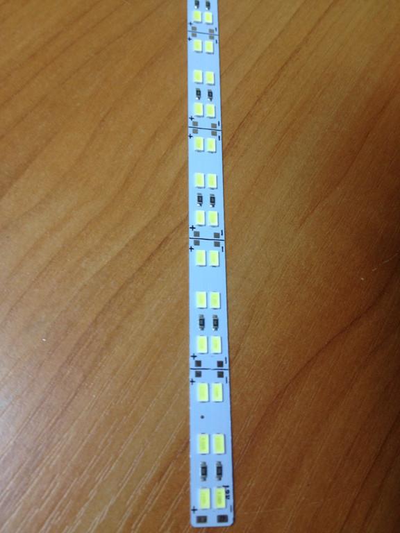 Светодиодная лента Premium SMD 5630/144 12V 6500K IP20 1м на алюминиевой подложке Код.58618