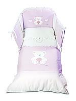 """Детский постельный комплектItalbaby """"Peluche Rosa"""" 5 эл."""