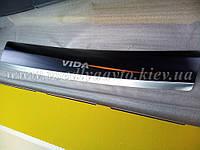 Накладки на бампер с загибом ЗАЗ Vida седан