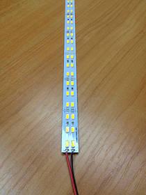 Светодиодная лента Premium SMD 5630/144 12V 3200K IP20 1м на алюминиевой подложке Код.58619