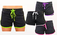 Шорты женские короткие для фитнеса VSX 7174 (женские спортивные шорты): размер S-L, 4 цвета, фото 1