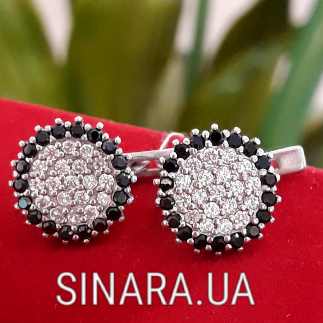 Серебряные серьги с черными камнями - Серьги с черными камнями серебро