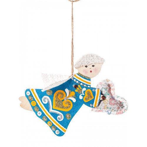 Ангелочек із дерева патріотичний  ручний розпис