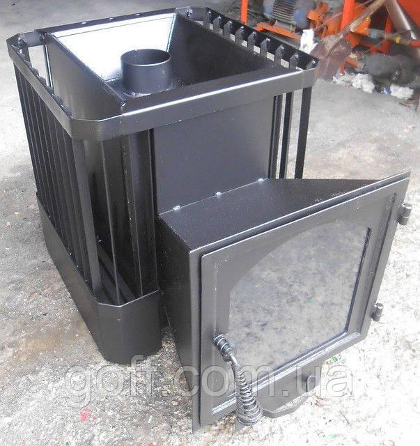 Банная печь со стеклом 30м3 (обрешетка)